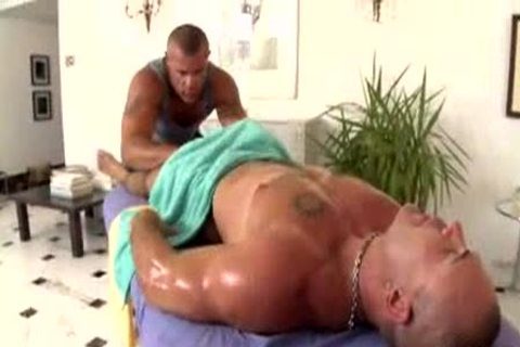Massageing Wrestler