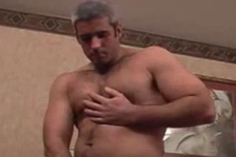 Straight Silver muscular Bear acquires Teased