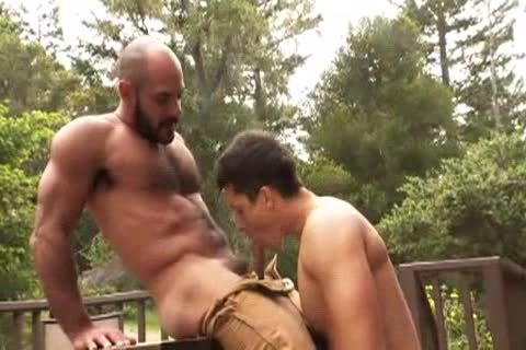 bushy Muscle Bald Bear fucks Jay Roberts