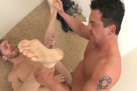 Tattooed Married lad nailing A homo males Prick