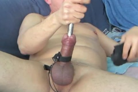 During My Second Session, When My Urethra Was A Bit Wider, I discharged My Load whilst The Sound Was Still In My 10-Pounder. Using 16 And 17mm Sounds During This sadomasochism Masturbate Session.