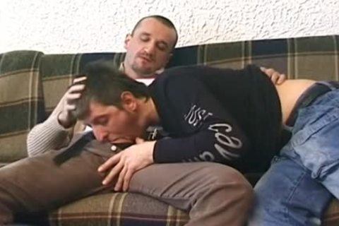 homo Enjoys Deepthroat fellatio-sex stimulation-job With painfully Barebacking