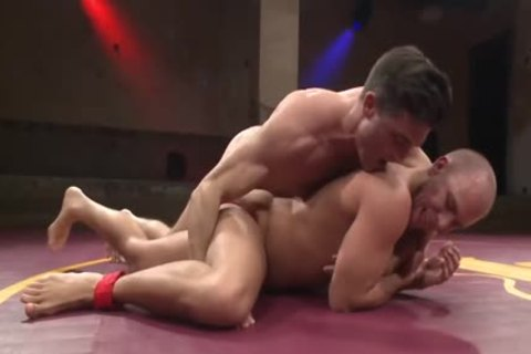 undressed Hunks Wrestle For Dominance