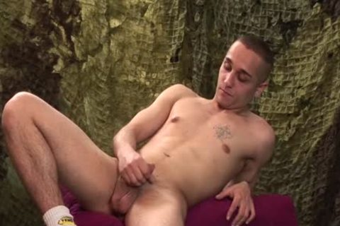 filthy guy Likes To wank His cock Softly
