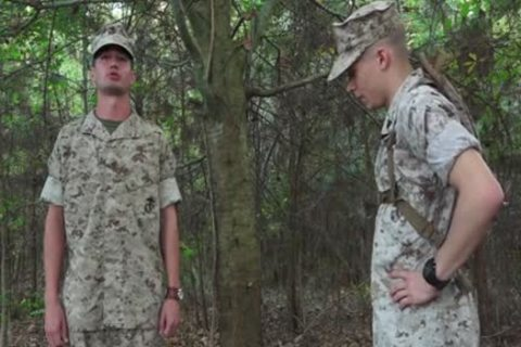 Army twink Seduces The Soldier