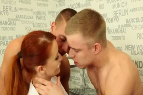 delicious ambisexual teens fucking With A Redhead