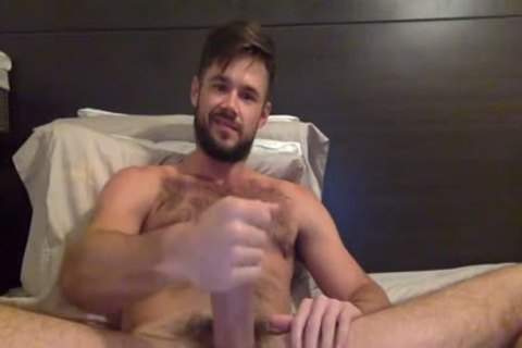 Porn Star Mike De Marko Strokes His giant palpitating penis