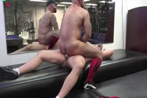 Muscle Bear ass bone With cock juice flow
