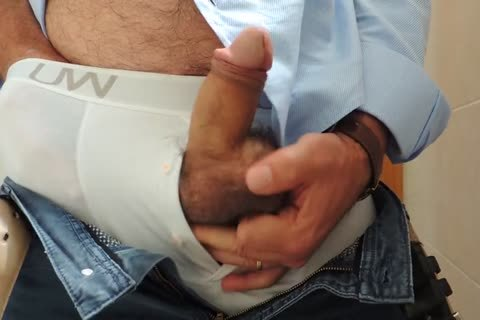Teasing And jerking off A good Tool With Precum In Some White Boxer underwear