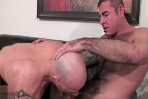 Muscle Bear unprotected And sex cream flow