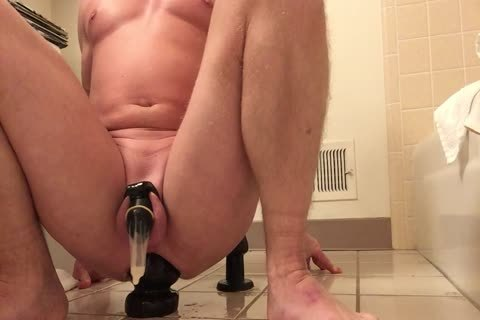 Milking And Stretching With A large toy!