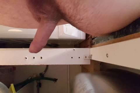 Washing The Dishes naked. Floppy Precum penis Wobble