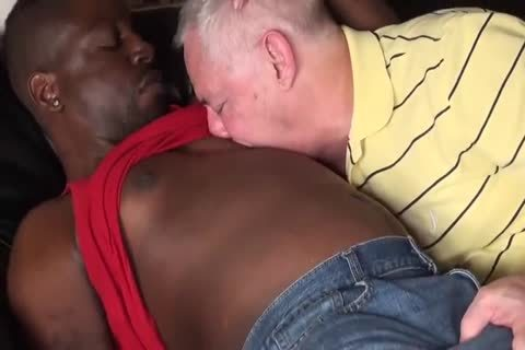 black lad pounds old daddy raw