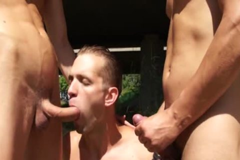 old chap Ends Up In A twink group-sex