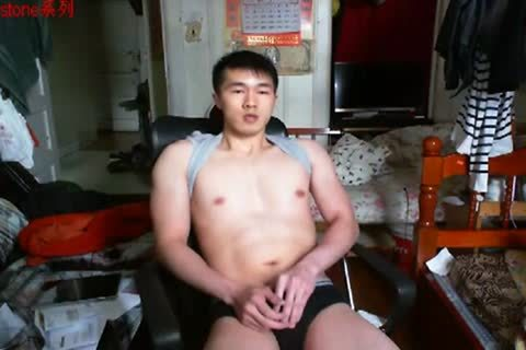 A handsome Chinese Hand Job In web camera