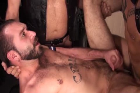 big dong Bear 3some With sex cream flow