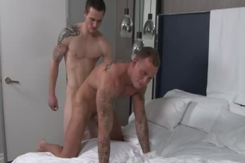 Muscle gay ass-copulation And cumshot