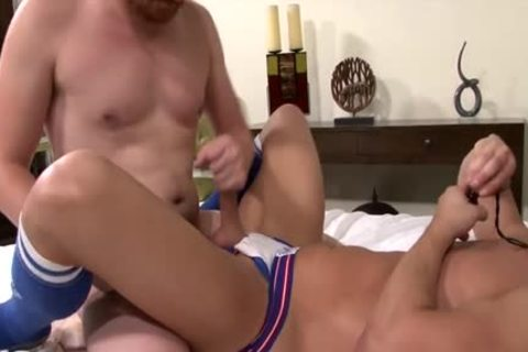 Muscle homosexual butthole sex With cock juice flow