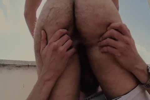 Roof excited hairy homosexual Sex