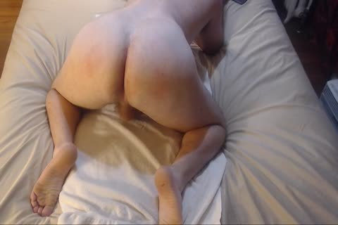 spanking Bubble ass With ass plug Jacking Off sperm On Chest