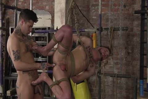 young homosexual Koby Lewis tied And nailed Hard By Mickey Taylor