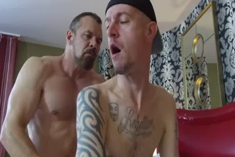 Robert Rexton receive's slammed By Muscle Daddy's Max Sargent & Chance Caldwell