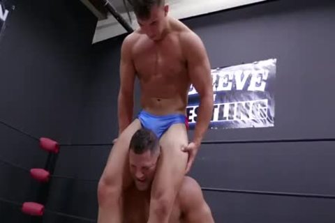 Daddy And Son Wrestling! Daddy Is So delicious In Minimal Speddo, not quite A belt