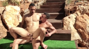 men In Ibiza - Paddy O'Brian and Juan Lopez butt Hump