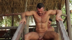 men In Ibiza - Paddy O'Brian and Denis Vega butthole Nail