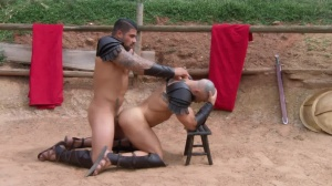 Sacred band Of Thebes - Francois Sagat, Ryan pokes ass slam