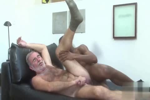 handsome Silver Daddy pounded By black young Muscle