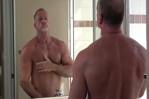 lusty Muscle Daddy Mikey Shower jerk off