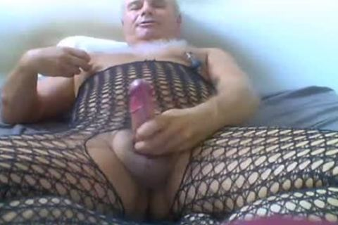 daddy chap Love Wearing charming underwear, And Ride sex tool
