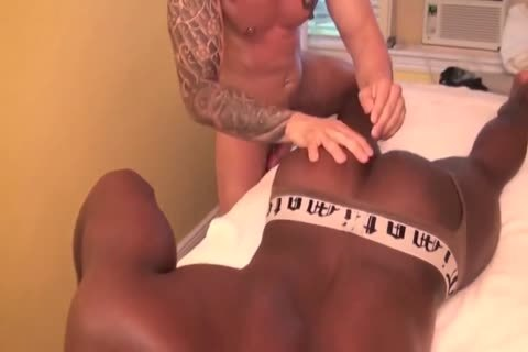 Getting more Than His Back Muscles Massaged