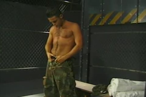 Army twinks Have A joy oral enjoyment-sex Job