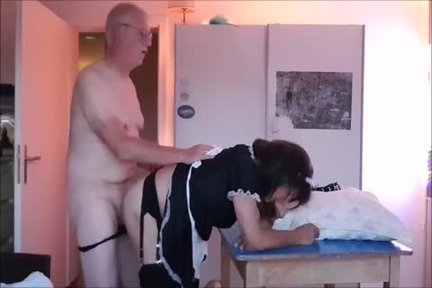 Maid Sissy Cleans house Sucks cock gets nailed