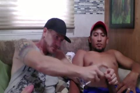 Straight Latino Construction Worker receives First cook jerking From A man (Martin two)