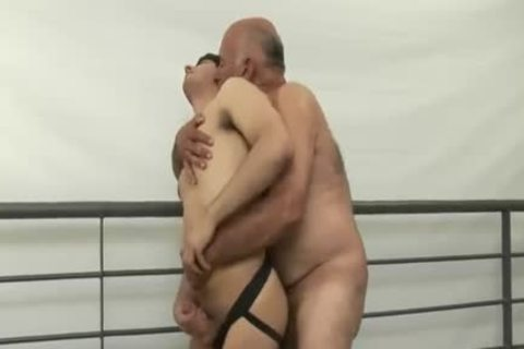 pleasing hairy grandpa Tops young chap