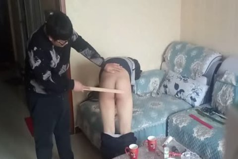 sleazy twink Came During His spanking