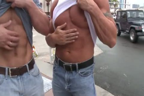 Rock And Mark pound In Public