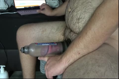 Pumping My big thick cock With Bathmate Hercules X30