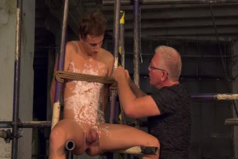 Blindfolded Sub Milked For cum By His daddy slavemaster