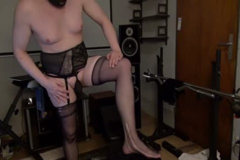 Full shaved 1-three wild In Suspenders And Open Bra lingerie
