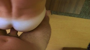 Balding young cutie is left exhausted after hard anal