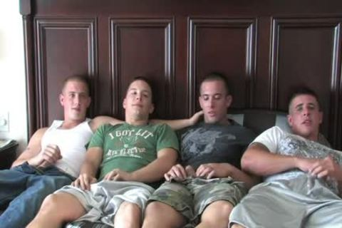 4 Hunks Playing