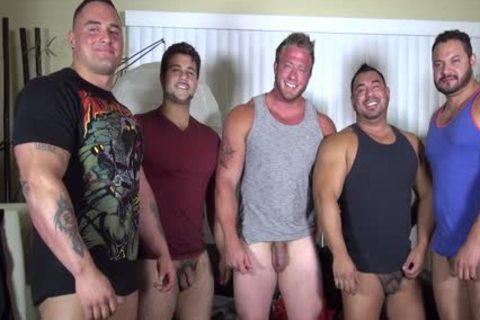 In Nature's Garb Party @ LATINO Muscle Bear abode - amateur enjoyment W/ Aaron Bruiser