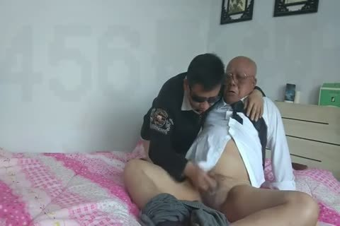 young Chinese Sucks & bonks His grandpa friend