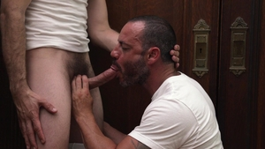 MissionaryBoys: Nervous colleague President Lewis digs bound