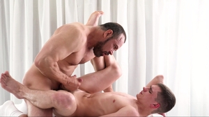 Missionary Boys - Nervous Elder Addison threesome on the table