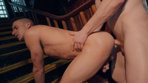 DrillMyHole.com: Gay Kyle Connors bareback reverse cowgirl